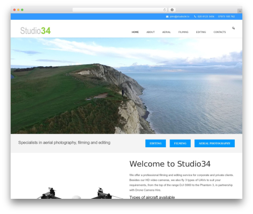 WordPress theme Dikka - studio34.tv