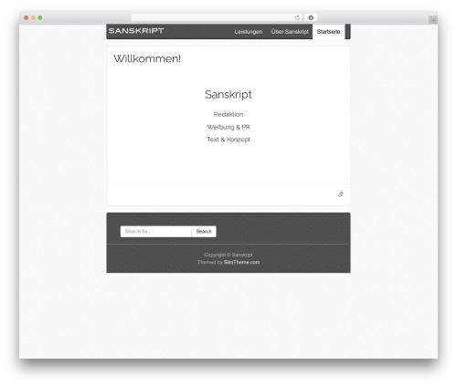 WordPress theme SlimWriter - sanskript.de