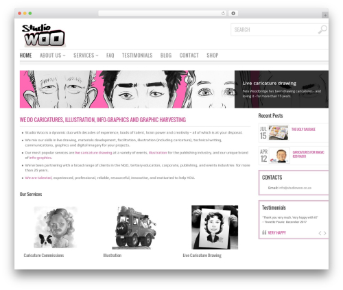 Bazar best WordPress theme - studiowoo.co.za