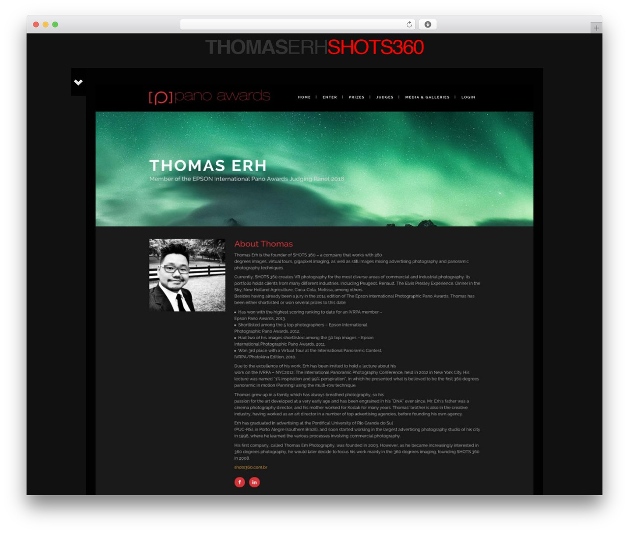 Black Label WordPress theme design - shots360.com.br