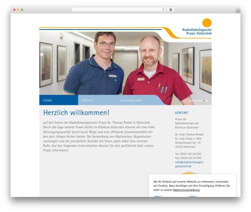 Classic WordPress theme - strahlentherapie-guetersloh.de