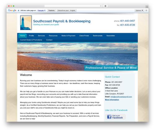 Customized company WordPress theme - southcoastpayroll.com