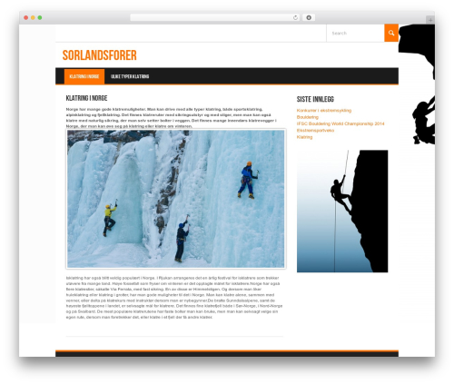 Koenda WordPress theme - sorlandsforer.com