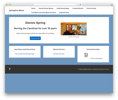 Responsive WordPress page template - springtimemusic.biz