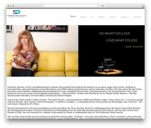 YellowProject Multipurpose Retina WP Theme WordPress page template - suzannedelaurentiisproduction.com