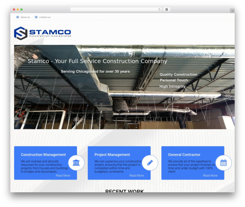 Arkitekt business WordPress theme - stamcoconstruction.com