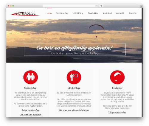 Avada WordPress website template - skybase.se