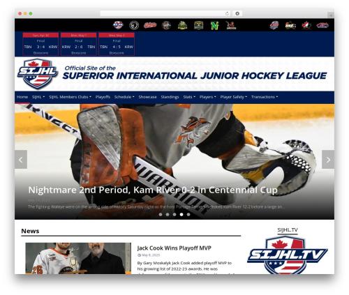 Barracuda premium WordPress theme - sijhlhockey.com