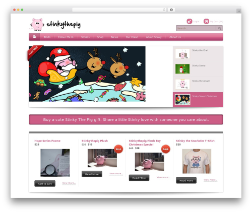 Bellissima WordPress template - stinkythepig.com