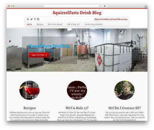 Customizr free WordPress theme - squirrelfarts.com