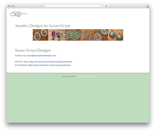 Dynamik-Gen WordPress website template - susangracedesigns.com