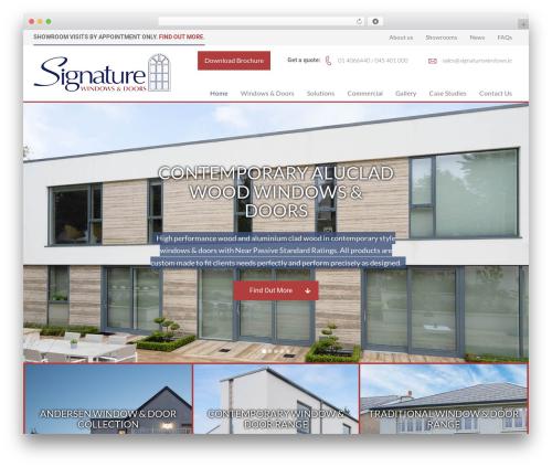 Marvin template WordPress - signaturewindows.ie