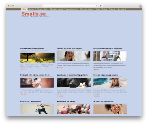 Template WordPress Fragrance - smalis.se