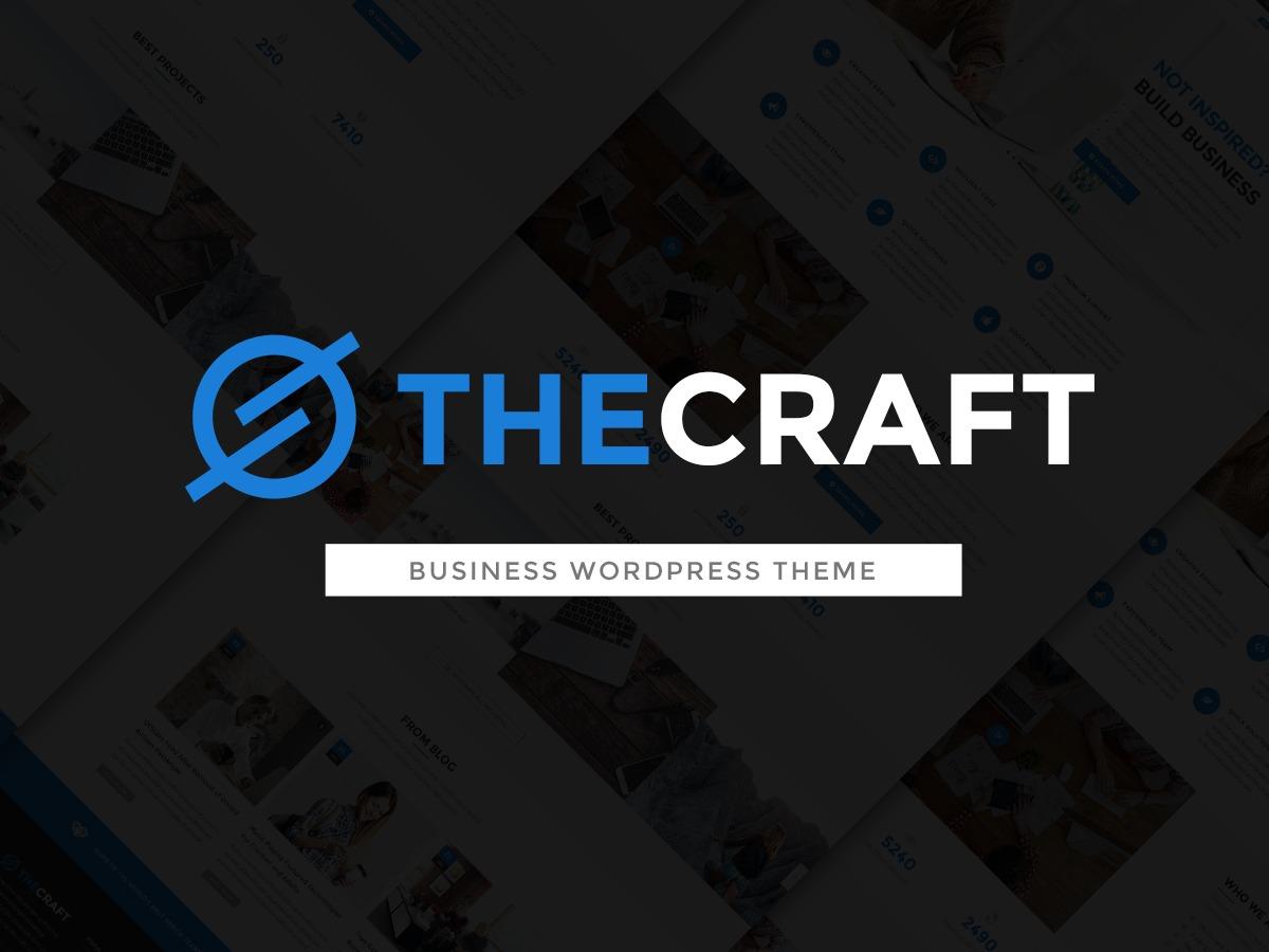 TheCraft company WordPress theme