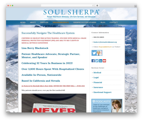 Theme medical WordPress theme - soulsherpa.net