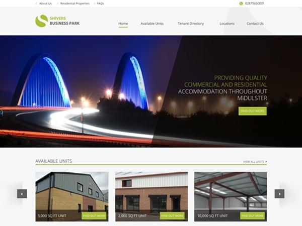 WebsiteNI Theme - Shivers Business Park company WordPress theme