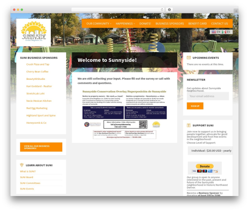Best WordPress template TownPress - sunnysidedenver.org