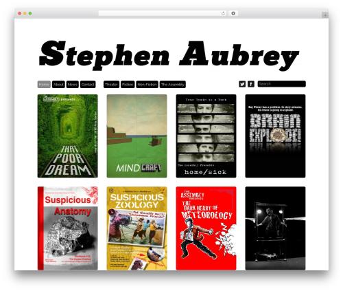 Grid Theme Responsive theme WordPress - stephenaubrey.com