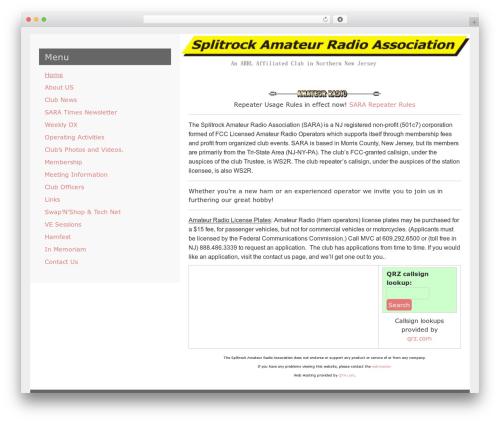LeftSide WordPress template free - splitrockara.org