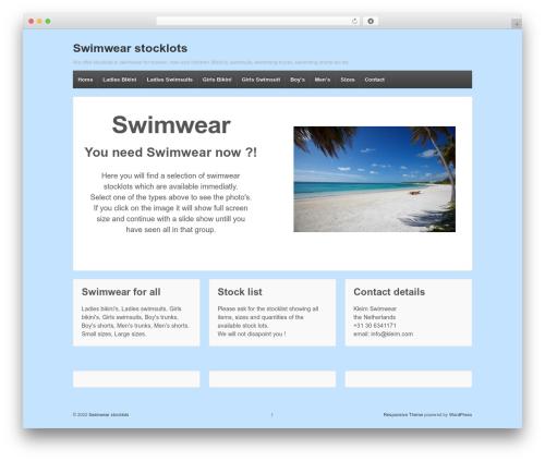 Responsive WordPress template free - swimwear-stock.com