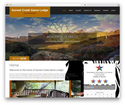 SKT Hotel Lite WordPress theme - sunsetcreek.co.za