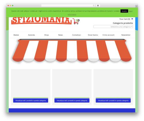 SmartShop WordPress shop theme - sfiziomania.it