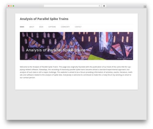 Twenty Twelve template WordPress free - spiketrain-analysis.org