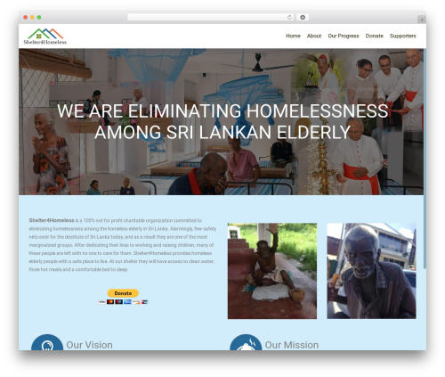 WordPress theme OnePirate - shelter4homeless.com