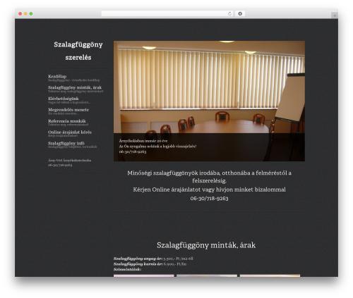 WordPress theme ShapeShifter 2 - szalagfuggony-arnyekolas.com