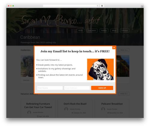 WordPress website template Wave - susanpronko.com