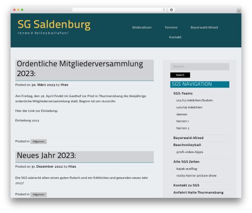 BizFlare WordPress theme - sg-saldenburg.de