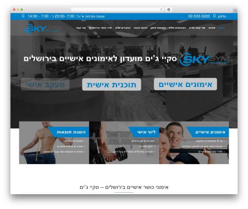 Fitnes, Sport, Gym theme WordPress - skygym.co.il