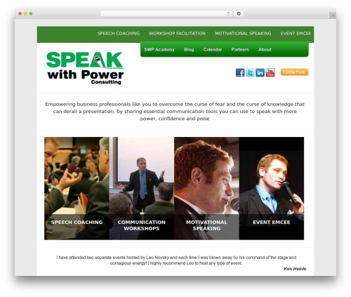 Leo WordPress template for business - speakwithpower.net