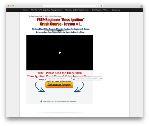 OptimizePress landing page template WordPress - simplebassplayingsystem.com