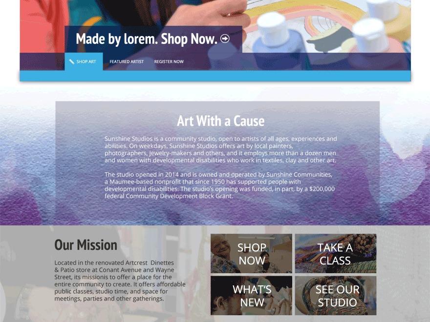 Theme WordPress Sunshine Studios