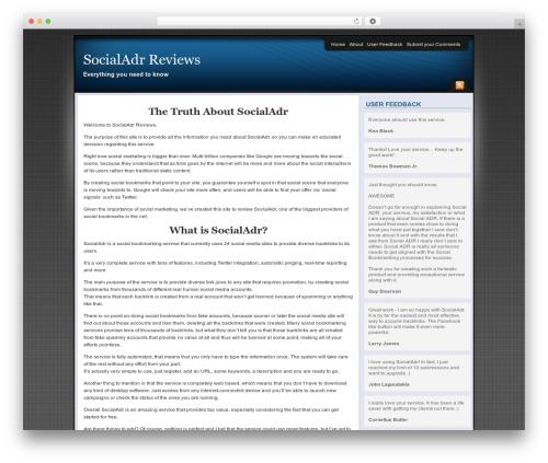 WordPress theme Affiliate Internet Marketing theme - socialadrreviews.com