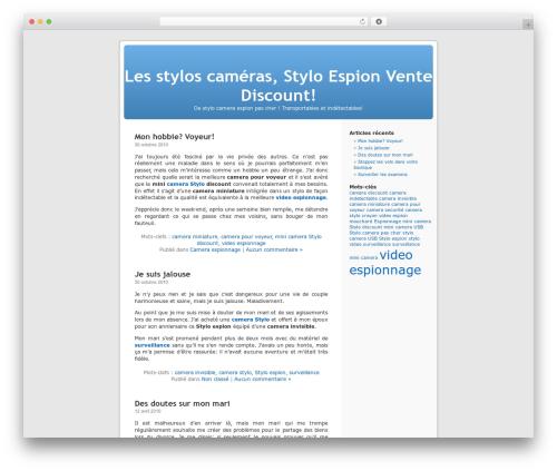 WordPress theme WordPress Default Fr - stylo-camera.net
