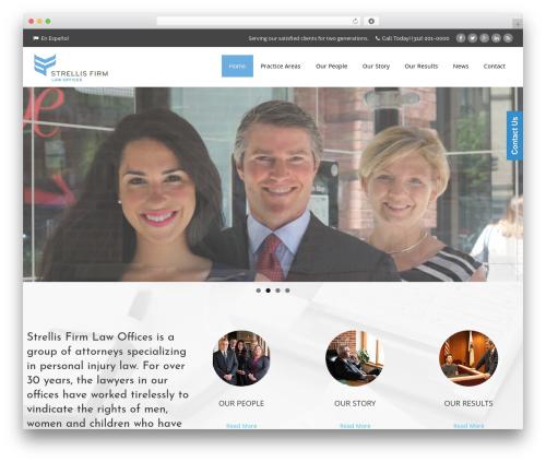 Aaika company WordPress theme - strellislaw.com