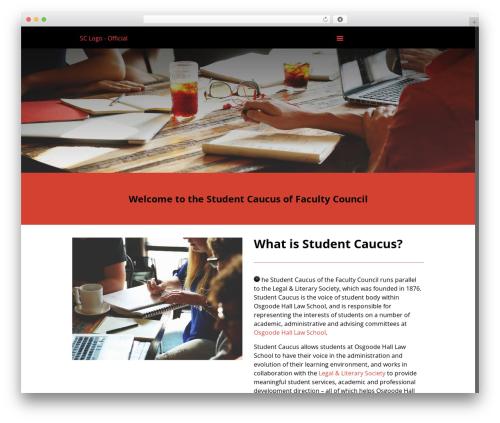 Betheme WordPress page template - studentcaucus.legalandlit.ca
