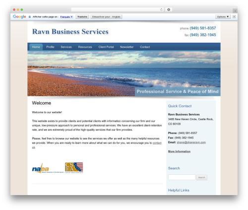 Customized business WordPress theme - shaneravn.com