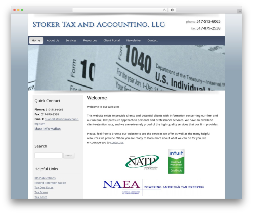 Customized WordPress template for business - stokertaxaccounting.com