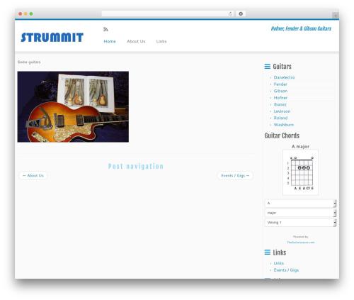 Customizr WP theme - strummit.com