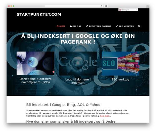 Parallax Frame WordPress theme - startpunktet.com