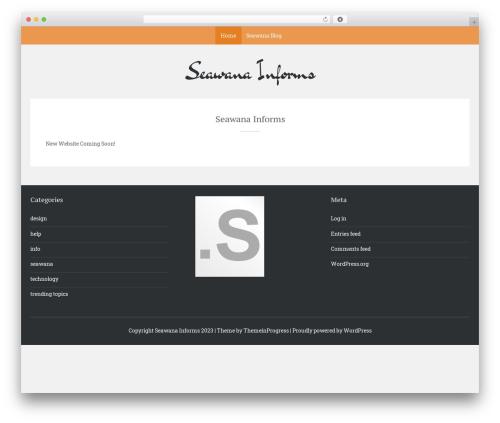 Sean Lite WordPress theme - seawana.com