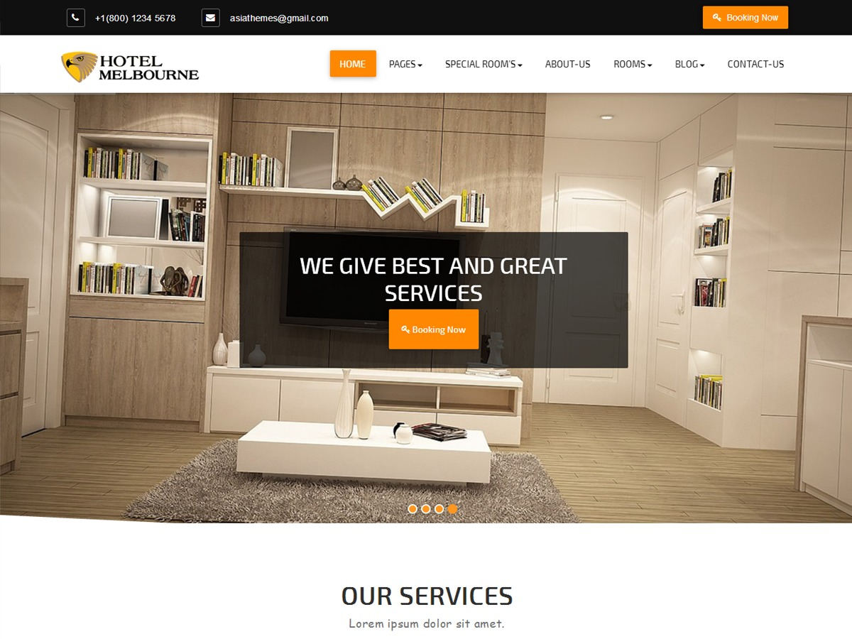 Abacus Hotel free website theme