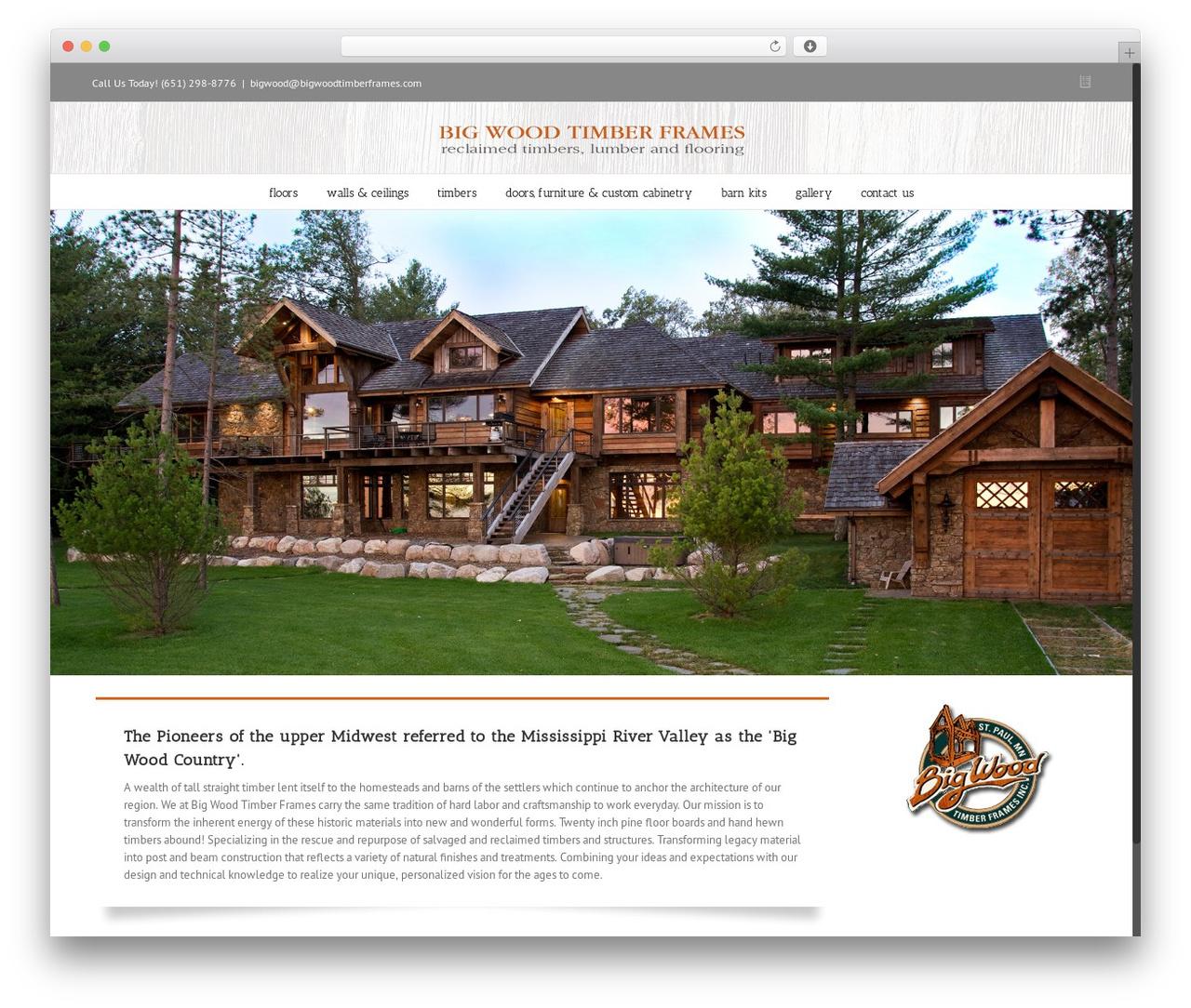 Avada WordPress template - test.bigwoodtimberframes.com