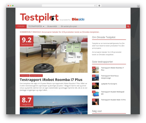 Best WordPress template Ciola - testpilot.dinside.no