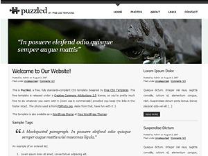 Best WordPress template Puzzled