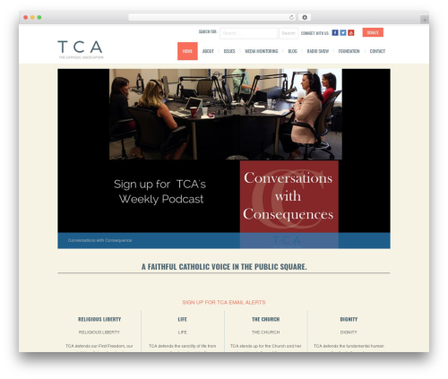 BigBang premium WordPress theme - thecatholicassociation.org