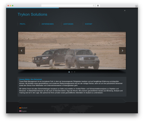 Business Design Theme WP theme - trykon-solutions.com